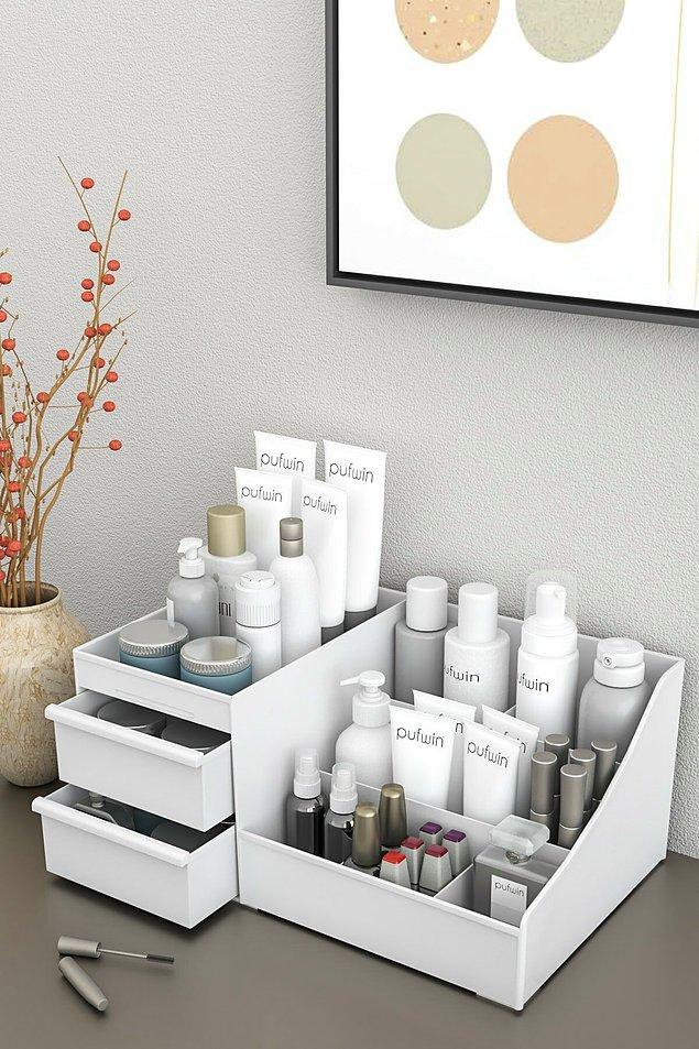 7. Evin içinde kullandığınız kozmetik ürünler için bu düzenleyici de çok işinize yarayacak.