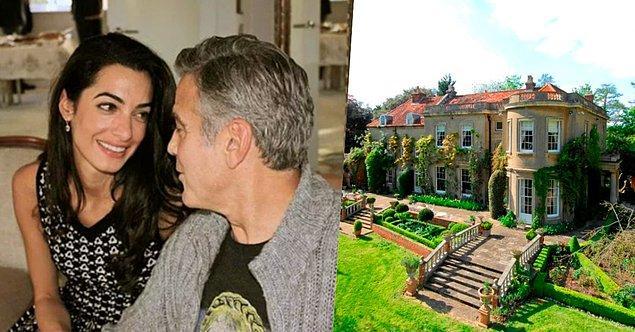 6. Ama ve George Clooney çifti, Thames Nehri yakınlarındaki 10 milyon sterlin değerindeki evlerinin üstüne aynı bölgeden bir de ada almışlar.