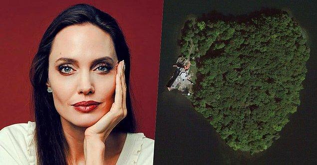 10. Angelina Jolie, eski eşi Brad Pitt için New York'un kuzeyinde kalp şeklinde bir ada olan Petra Adası'nı almış.