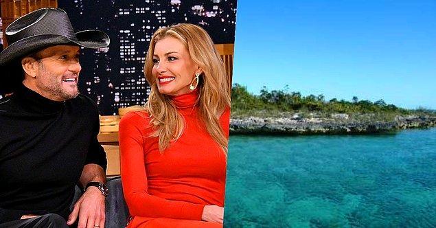 22. Amerikalı country müzik sanatçısı Tim McGraw ve eşi Faith Hill'in Bahamalar'da Goat Cay isimli bir adaları var.