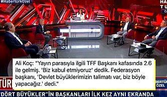 İşte Görmek İstediğimiz Hareketler! 4 Büyük Kulübün Başkanları Canlı Yayında Türk Futbolunu Masaya Yatırdılar