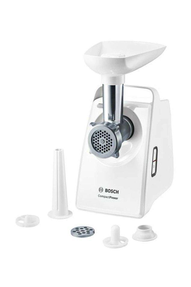 3. Bosch küçük ev aletleri de kaliteyi Alman mallarında arayanların tercihi. Kıyma makinesi ile evde kendi kıymanızı çekebilir, kendi mini kasabınızı oluşturabilirsiniz.