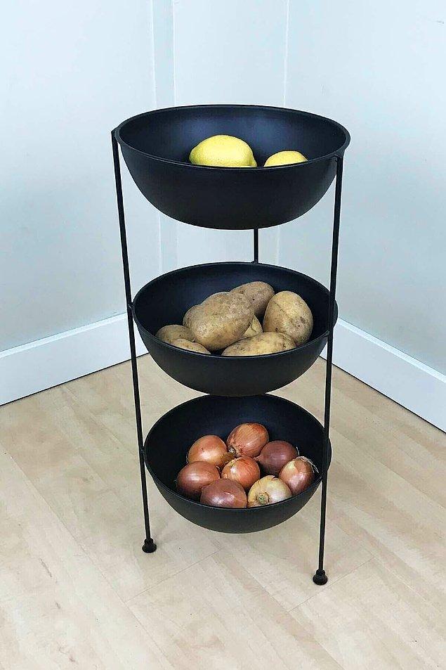 9. Mutfakta sık kullandığınız sebzeler için kullanabileceğiniz bir sebzelik.