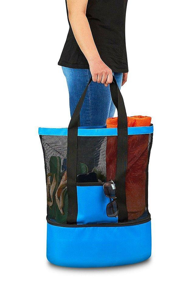 18. Plaja giderken her şeyinizi yanında taşımak istiyorsanız tam sizlik bir çanta buldum.