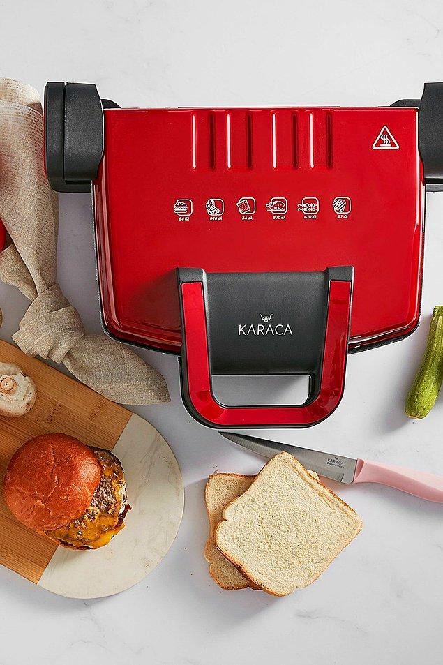 4. Neşeli kahvaltıların gözdesi, hızlı sabahların kurtarıcısı: tost makinesi!