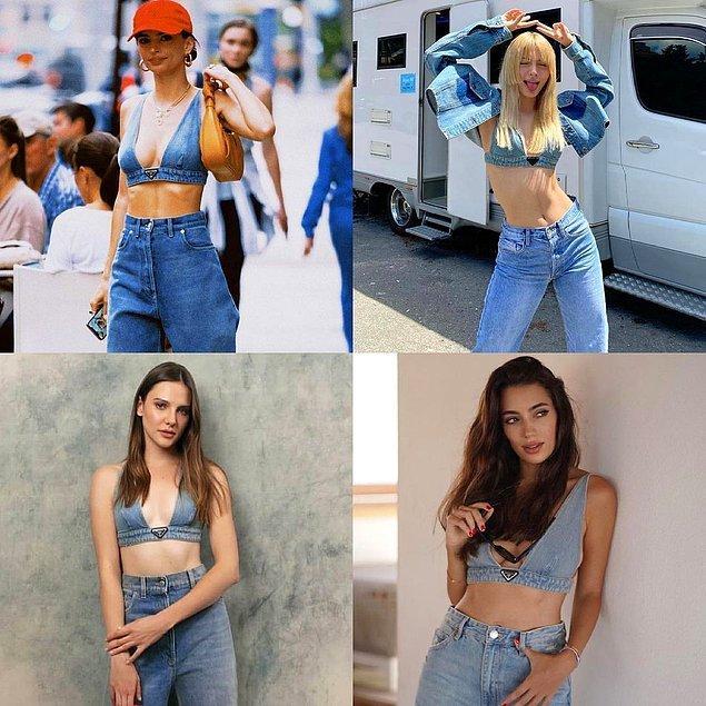 5. Prada kot büstiyeri giymeyen kalmadı. İlk giyen Emily Ratajkowski ile Aleyna Tilki, Alina Boz ve Rachel Araz pişti oldu.
