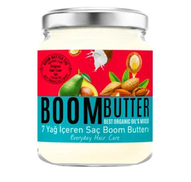 1. Yıpranmış saçlara 7 yağ içerikli Herbal Science Boom Butter!