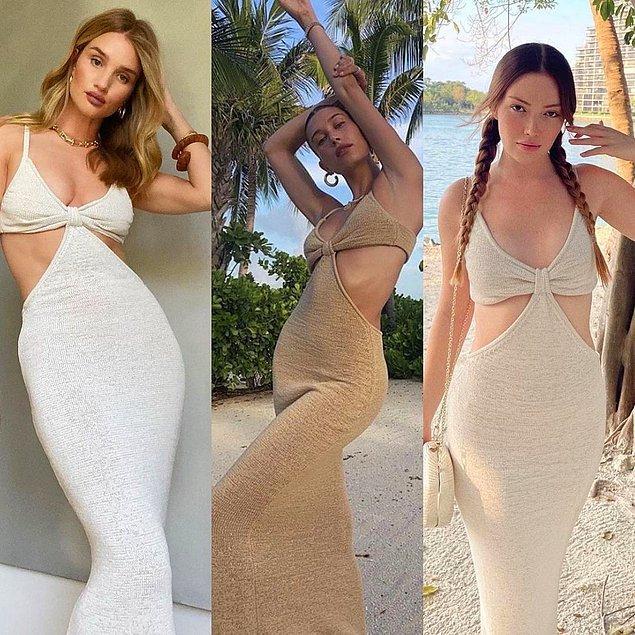 7. Danla Bilic, iki yazdır Rosie Huntington-Whiteley ve Hailey Bieber gibi sayısız ünlüde gördüğümüz ikonik elbiseyi giydi.