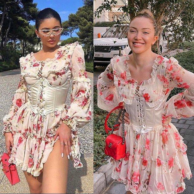 12. Tasarımcı Duygu Ay imzalı elbiseyi ilk olarak Kylie Jenner giymişti. Daha sonra Danla Bilic de giydi.