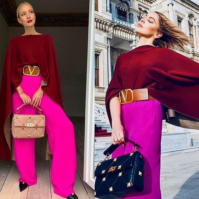 13. Ünlü influencer Leonie Hanne ve Hadise baştan aşağı aynı markadan giyinerek pişti oldu.