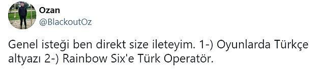 6. Oysaki Ubisoft'un Türkiye resmi sosyal medya hesapları açıldığında hepimiz ne kadar da çok sevinmiştik.