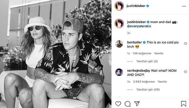 Justin Bieber'ın 'Anne ve baba' açıklamasını yaptığı paylaşımı ise yeni bir bebek mi sorusunu akıllara getirdi.