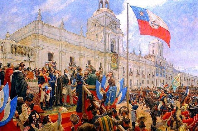 Şili, 18 Eylül 1810 tarihinde bağımsızlığını ilan etti.
