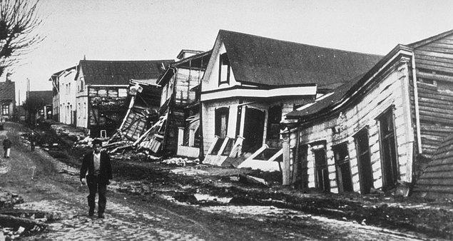 """1960'ta yaşanan """"Büyük Şili Depremi"""", bugüne kadar kaydedilen en şiddetli deprem."""