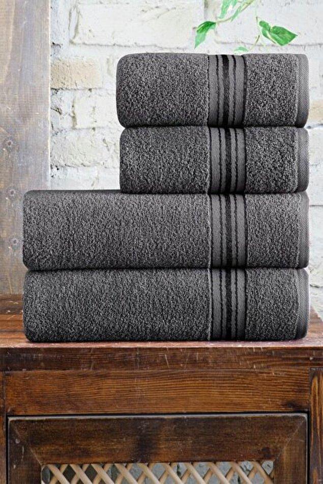 2. Banyolarınızda tamamlayıcı bir görünüm için havlu setlerine göz atmanız gerekiyor.