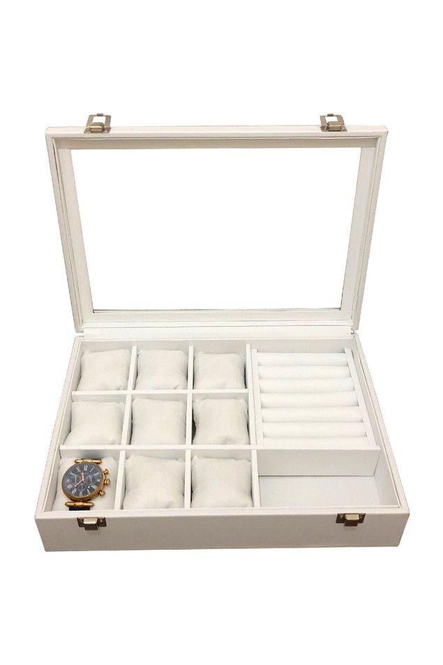 6. Takılarınızı muhafaza edebileceğiniz çok amaçlı bir kutu için;