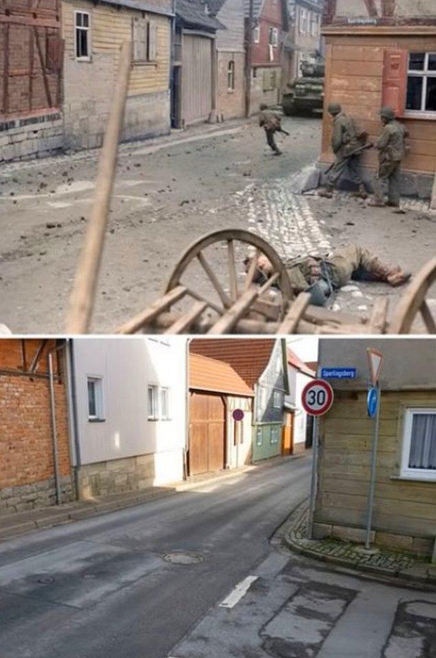 14. 71 yıl arayla çekilmiş aynı sokak: