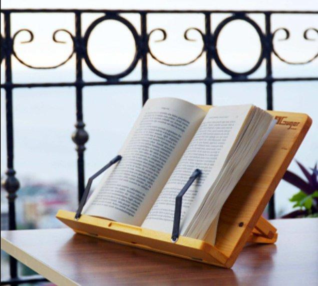 13. Kitap okurken eğilip bükülmeye, el değiştirmeye son!
