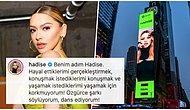 Hadise New York Times Square'daki Fotoğrafı ile 'Kadınların Sesini Daha Çok Duyacaksınız' Mesajı Verdi!
