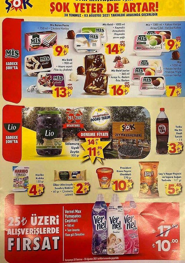 Sadece ŞOK'da olan bazı ürünler;