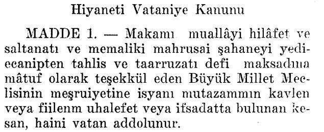 Ve 25 Nisan 1920'de Mehmet Şükrü Bey, Meclis'in otoritesine bütün Osmanlı tebaasının uyması için aşağıdaki önergeyi verir ve Meclis 4 gün sonra bu kanunu kabul eder.