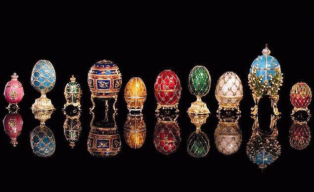 6. Rus Çarı II. Aleksandr'ın eşine Paskalya'da hediye etmek için hazırlattığı 50 Fabergé yumurtasından 8 tanesi kayıp!