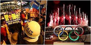 Protestoların Gölgesinde... 2020 Tokyo Olimpiyatları Açılış Töreninden Renkli Kareler