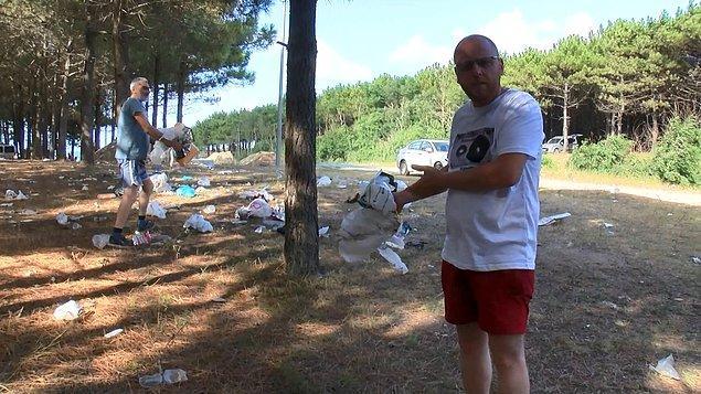 Başka bir vatandaş da çevrede çöp konteyneri olmadığı için insanların çöplerini rastgele attığını belirterek, belediyenin alana bir çöp konteyneri koymasını istedi.