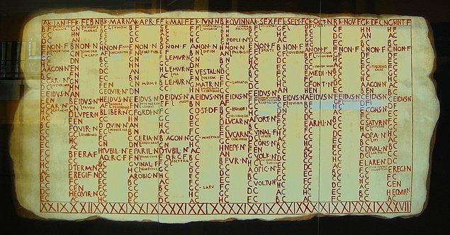 Roma dönemi takvimin özelliği, 30-31 gün geçen 10 aydan oluşmasıydı. İlk ay Mart, son ay ise Aralık olacak şekilde.