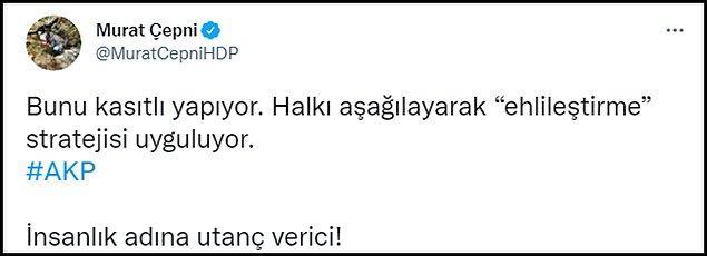 HDP'li Murat Çepni'nin tweeti 👇