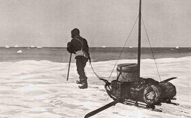 Kızağa binmek yerine koşmayı tercih eden Ninnis, kar tabakasının kırılması ile derin bir çukura düşer ve devamında en az altı köpek ve birçok ekipman ve çadırı da yanında götürür.