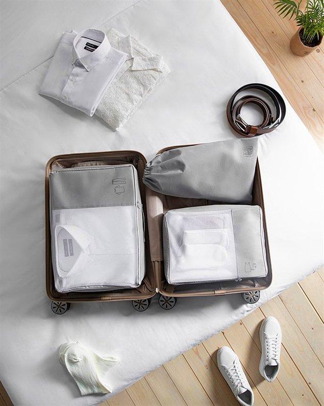 4. Bavul yapmanızı büyük ölçüde kolaylaştıracak set organizer modellerinin eliniz ayağınız olacağına garanti verebiliriz.