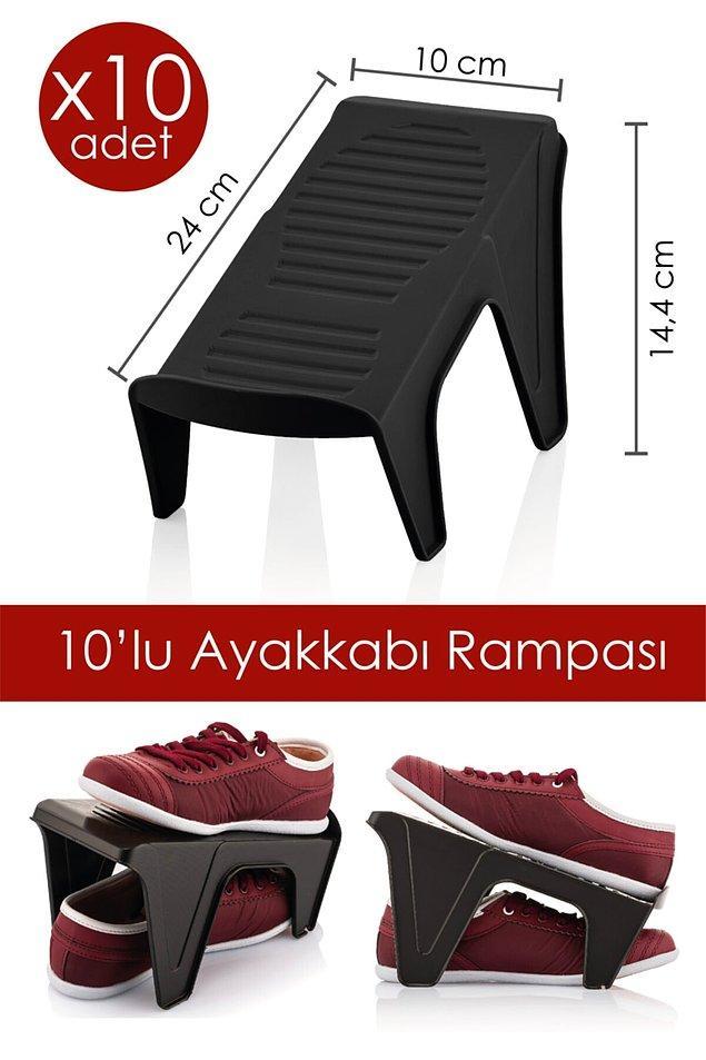 8. Ayakkabı rampası ile ayakkabılığınızın kapasitesini arttırabilirsiniz.
