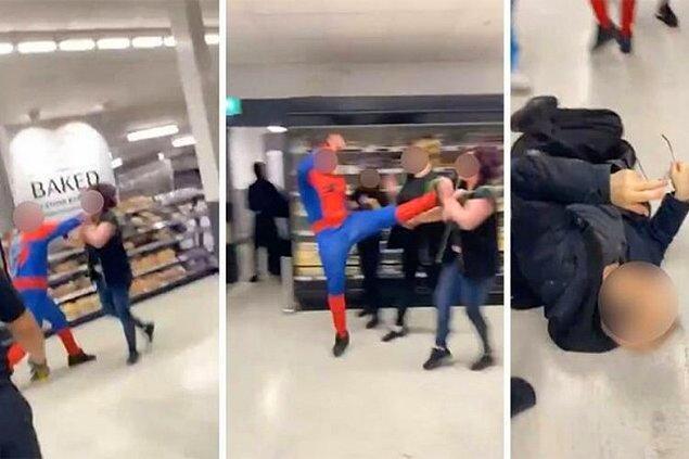 Londra'nın Clapham Junction bölgesinde bir markette Örümcek Adam kostümlü kişi çalışanlara saldırdı. İngiliz basınında yer alan haberlere göre olayda 6 kişi yaralandı, 20 yaşlarında bir kişi ise hastaneye kaldırıldı.