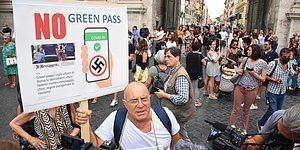 Türkiye'ye de Gelir mi? İtalya'da Aşıyı Zorunlu Hale Getiren 'Yeşil Geçiş' Protesto Edildi