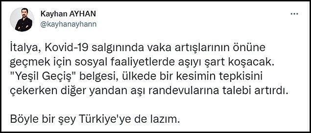 Pek çok kişi 'Yeşil Geçiş' benzeri uygulamaların Türkiye için gerekli olduğunu dile getiriyor. 👇