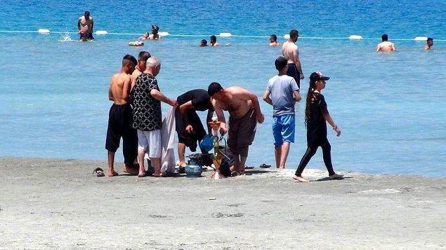 Salda Gölü, bayram tatilinde nargile içen ve çamur banyosu yapan insanlarla gündeme gelmişti.
