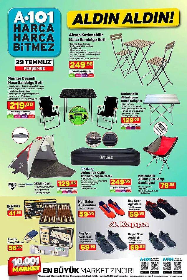 Ahşap Katlanabilir Masa Sandalye Seti 249,95 TL.