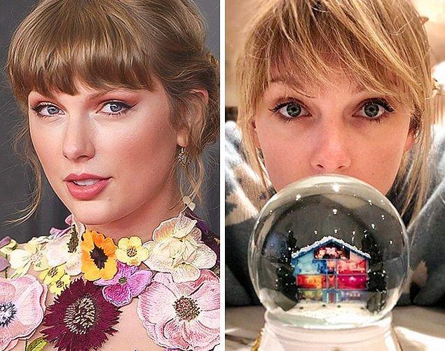 4. Taylor Swift: Kar küresi yapmak
