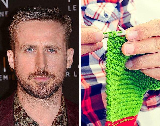 5. Ryan Gosling: Örgü örmek