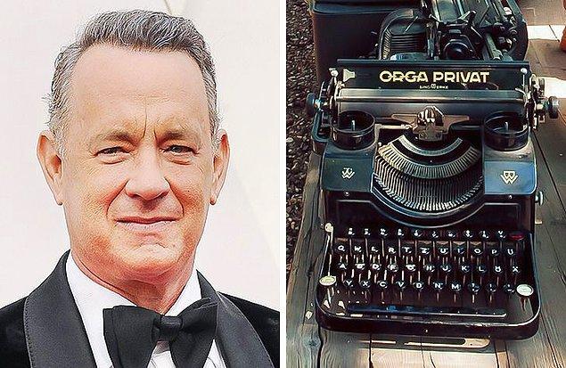 9. Tom Hanks: Daktilo koleksiyonu