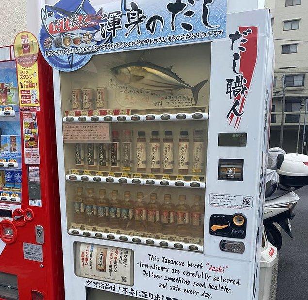 """6. """"Tokyo'da balık çorbası satan bir otomat var ve hatta çok çeşitli seçenekler bile bulunuyor!"""""""