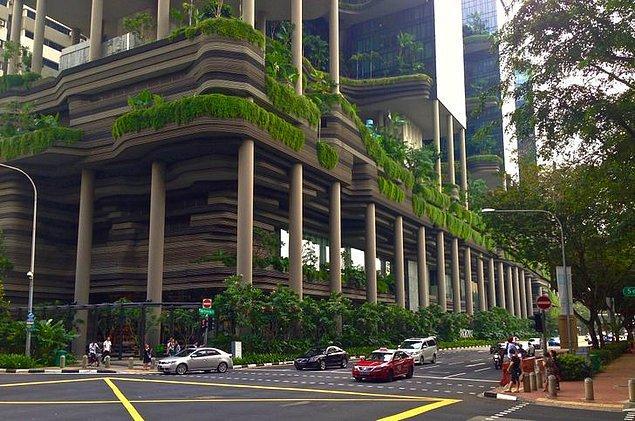 """11. """"Singapur'daki bu bina, sanki Minecraft'tan fırlamış gibi görünüyor!"""""""