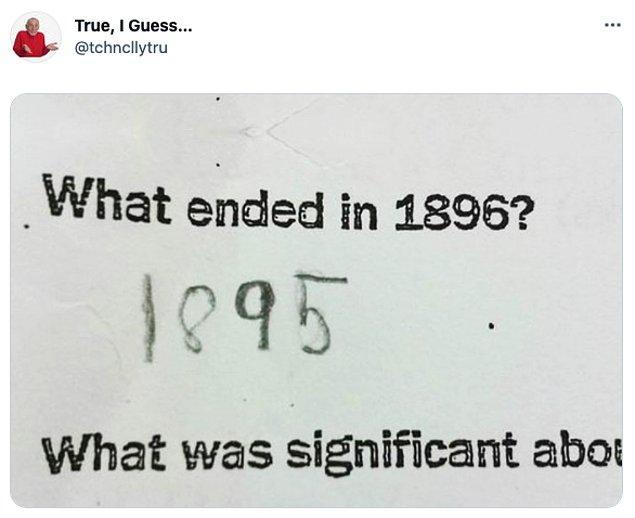 """13. """"1896'da biten şey nedir?      /       1895"""""""