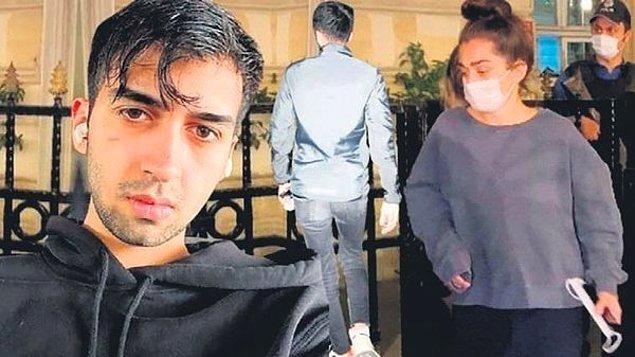 Şarkıcı Çağatay Akman, cuma gecesi Cihangir'de oturan eski sevgilisi oyuncu Öykü Uslu'nun kapısına dayandı.