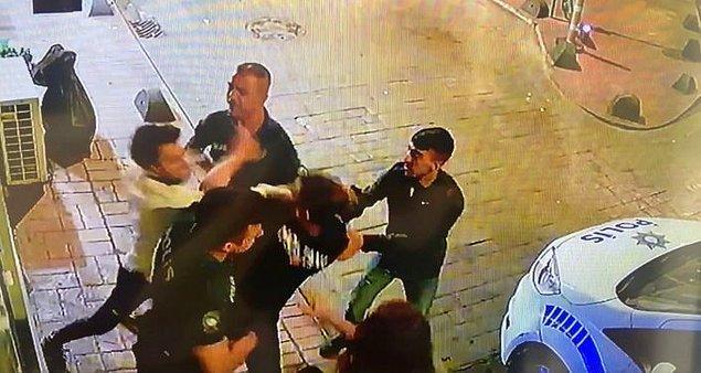 Sokak ortasında genç kıza vuran Akman, arkadaşına da saldırdı ve sokağı birbirine kattı.