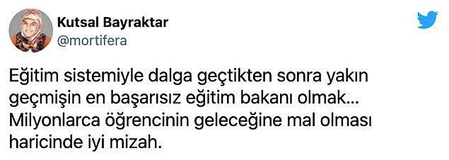 Twitter'da pek çok kişi Ziya Selçuk'un Milli Eğitim Bakanı olmasını talep etti. Öne çıkan bazı yorumları sizler için derledik 👇