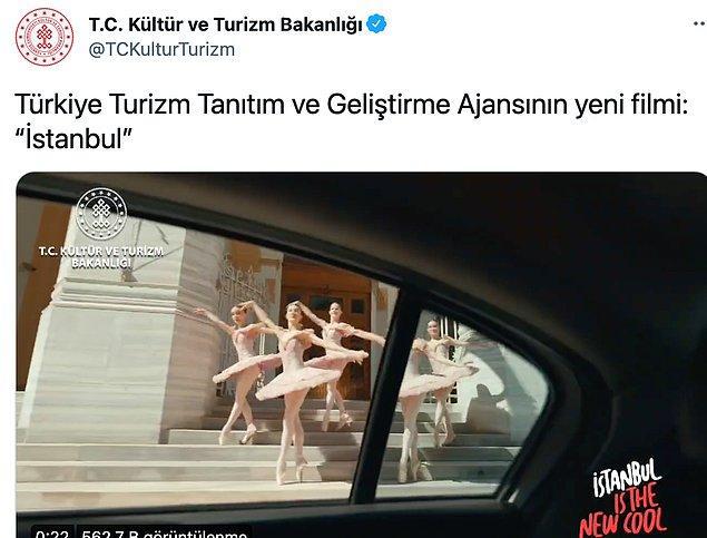 Bunların örneklerinden biri de Kültür ve Turizm Bakanlığı'nın İstanbul tanıtım filmi.