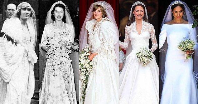 Halk en güzel elbiselerini giyse de kraliyet aileleri elbette bu özel gün için gelinlik yaptırıyordu, fakat geleneklerine göre bu gelinlik gümüş rengi olmalıydı.