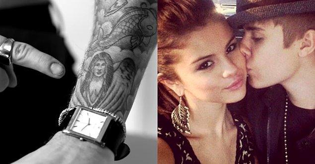 1. Ünlü şarkıcı Justin Bieber'ın kolunda eski sevgilisi Selena Gomez'den esinlenmiş bir melek dövmesi var.